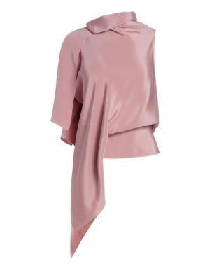 Tavistock Draped Asymmetrical Silk Top