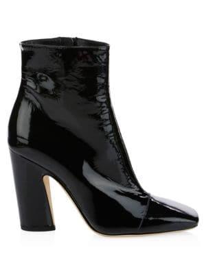 Mirren Patent Leather Booties