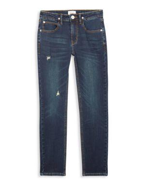 Boy's Slim Straight Distressed Jeans