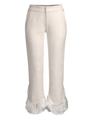 Tatum Crop Flare Fringe Pants