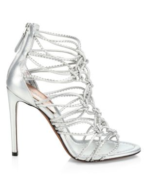 Multi-Strap Knotted Leather Sandals