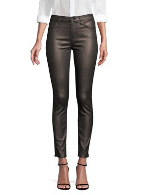7 FOR ALL MANKIND | Metallic Skinny Jeans | Goxip