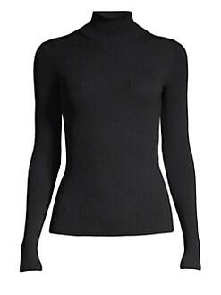 마쥬 MAJE Turtleneck Sweater,Black
