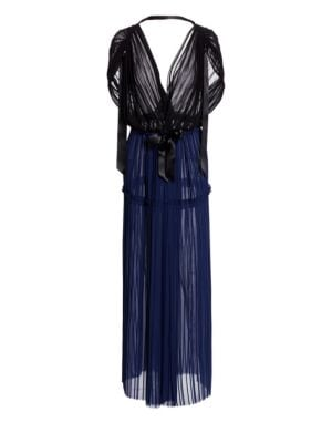 TRE BY NATALIE RATABESI The Angelique Dress in Black Navy