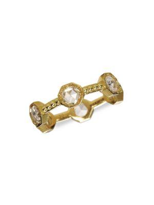 Caviar 18K Yellow Gold & Diamond Ring