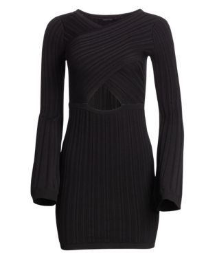 CUSHNIE ET OCHS | Flare Knit Mini Dress | Goxip
