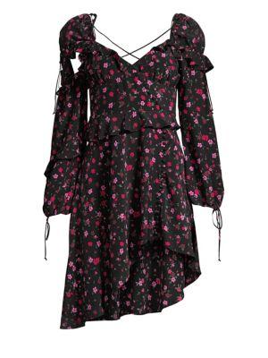 Rosie Ruffled Floral Mini Dress