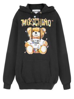 MOSCHINO   Christmas Teddy Hooded Sweater   Goxip