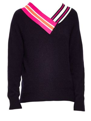 Country Club Varsity Sweater, Deep Navy