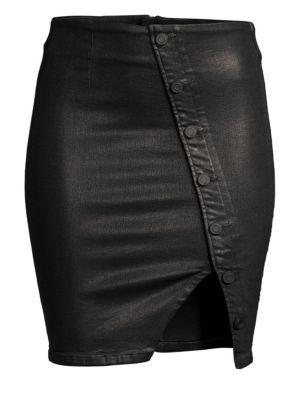 Jolene Coated Stretch Denim Skirt