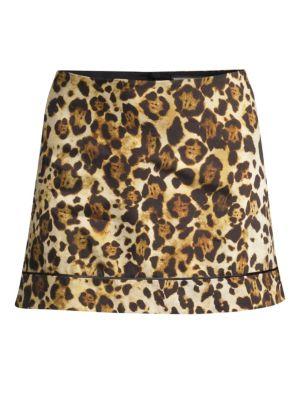 Rami Animal-Print Mini Skirt