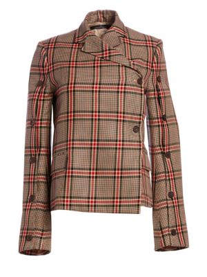 Button Check Jacket