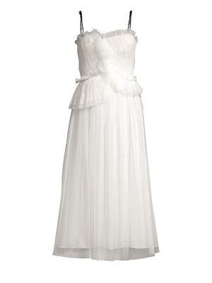 Mini Web Tulle Lace Dress
