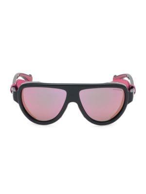 57MM Mirrored Shield Sunglasses