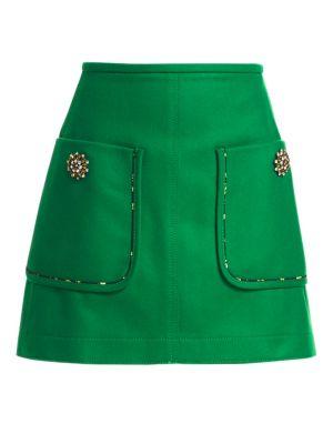 Jewelled A-Line Mini Skirt