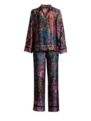 Josie Natori Nouveau Two-Piece Silk Pajama Set