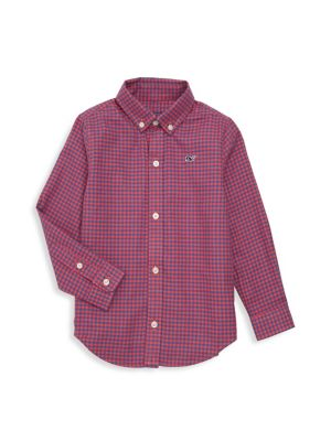 Baby, Little & Boy's Tradewinds Checker Dress Shirt