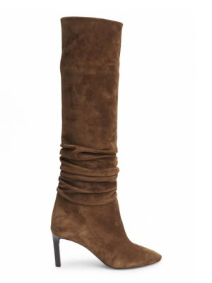 Suede Slouchy Boots by Saint Laurent
