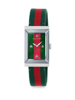 G-Frame Fabric Strap Watch