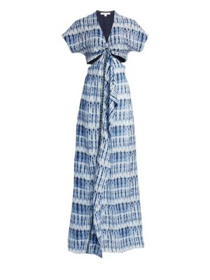 Hawaiian Sarong-Front Dress