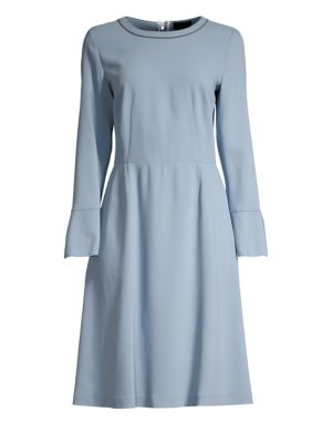 PIAZZA SEMPIONE   Bell Sleeve A-Line Dress   Goxip