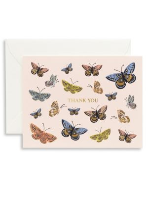 Boxed Monarch Thank You Eight-Pack Card Set