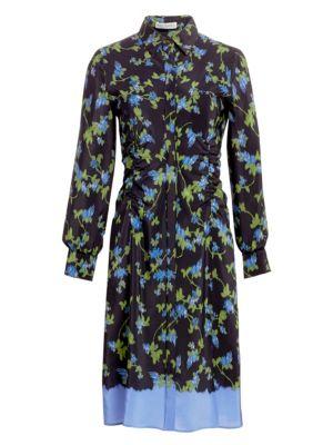 ALTUZARRA | Strada Silk Belted Dress | Goxip