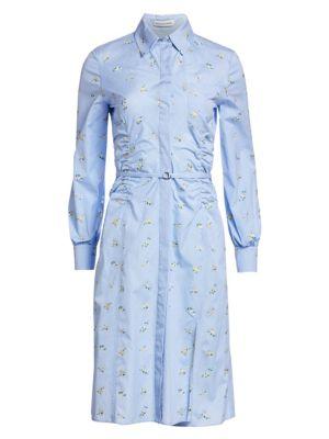 Cotton Hyacinth Shirt Dress