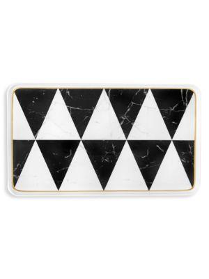 Carrara Medium Porcelain Rectangular Platter