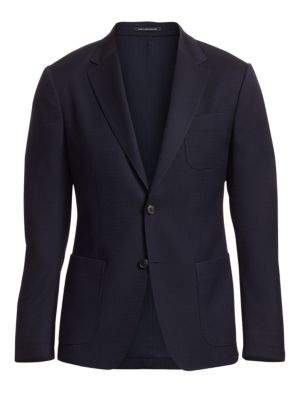 Z ZEGNA | Wool Button-Front Jacket | Goxip