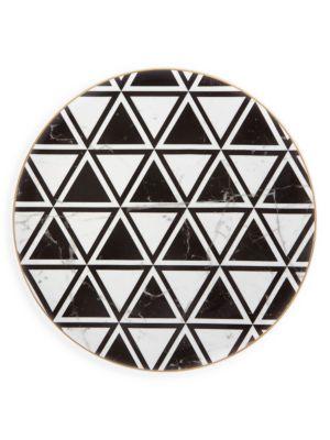 Set of Four Carrara Charger Plates