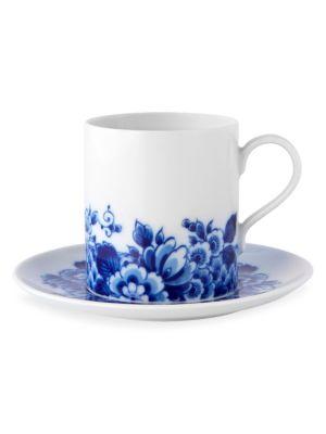 4-Piece Blue Ming Teacup & Saucers