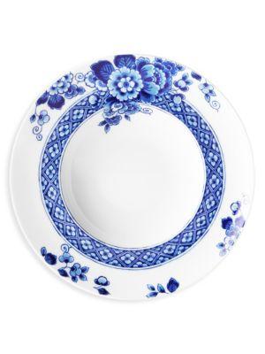 Set of Four Blue Ming Soup Bowls