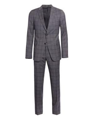 Wool Plaid Suit