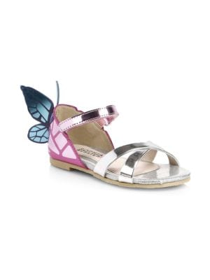 Baby's & Girl's Chiara Metallic Leather Sandals