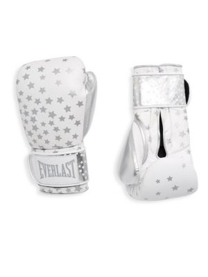 Star-Print Leather Gloves