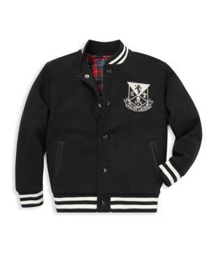 RALPH LAUREN | Little Boy's & Boy's Vintage Fleece Varsity Jacket | Goxip