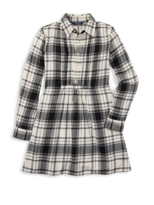 RALPH LAUREN | Little Girl's & Girl's Plaid Cotton Shirtdress | Goxip