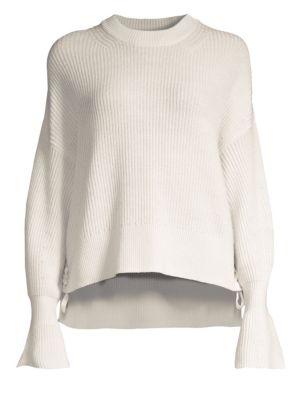 Bell-Sleeve Wool Sweater