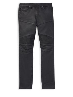 RALPH LAUREN   Little Boy's & Boy's Eldridge Moto Jeans   Goxip