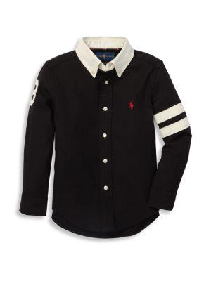 RALPH LAUREN   Little Boy's & Boy's Classic Oxford Shirt   Goxip