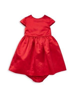 Baby Girl's Silk Cap-Sleeve Dress