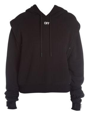 Sleeves Off Hooded Sweatshirt