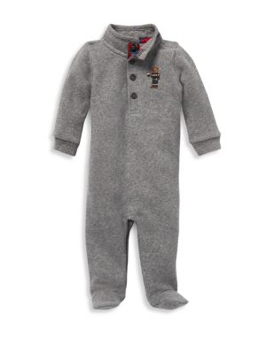 Baby Boy's Embroidered Footie
