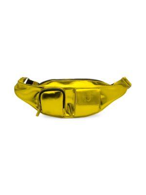 AVEC LA TROUPE | Major Metallic Leather Belt Bag | Goxip
