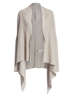Cotton Ribbed Mid-Length Wrap Cardigan