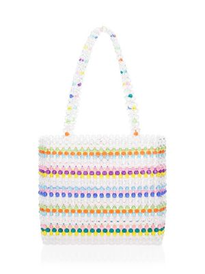 Merry Rainbow Beaded Tote