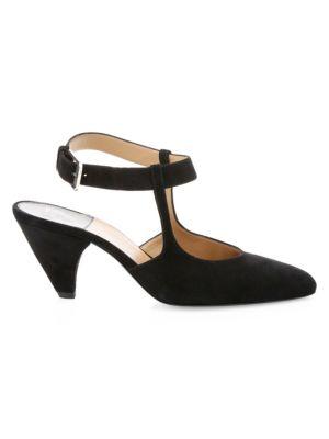 Tosca Mary Jane Suede Slingback Heels