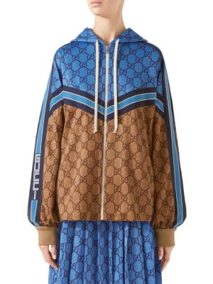 Gg Technical Jersey Jacket in Camel