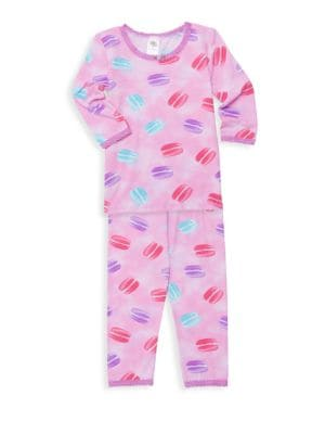 Little Girl's & Girl's Macaroon Two-Piece Pajama Set